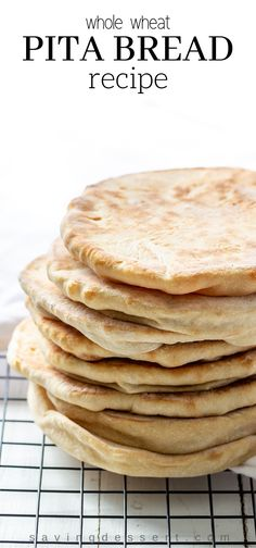 Try this easy homemade whole wheat pita recipe next time you crave tender, chewy pitas with a touch of honey for sweetness. Pita Recipes, Greek Recipes, Wheat Pita Recipe, Middle Eastern Bread, Whole Wheat Pita Bread, Baking Stone, Pasta, Cravings, Gourmet