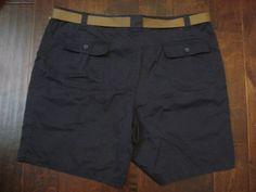 NWT Mens Size 48 St. Johns Bay NAVY Cargo Walking/Hiking Shorts Belted   #StJohnsBay #Cargo