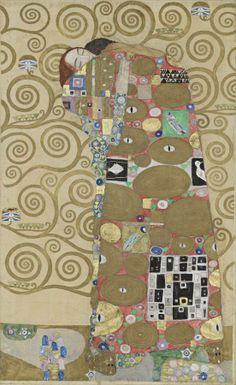 "Gustav Klimt, Design ""Erfüllung"" for the Stocletfries, Dining Room, 1910-11"