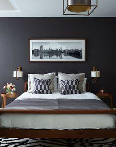 Home bedroom, gray bedroom walls, grey walls, bedroom colors, bedro Gray Bedroom, Home Decor Bedroom, Modern Bedroom, Bedroom Wall, Master Bedroom, Trendy Bedroom, Bedroom Furniture, Bedroom Quotes, Bedroom Colors
