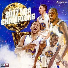 Down The Stretch Hoops: The Golden State Warriors are the 2017 NBA Champions. Bill Russell, Shaun Livingston, Andre Iguodala, Nba Championships, Draymond Green, Oakland Athletics, Kevin Durant, Golden State Warriors, Famous People