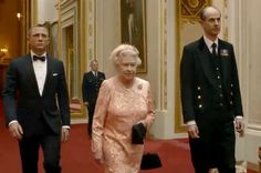 James Bond and her Majesty the Queen
