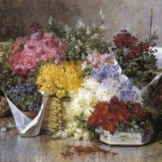Floral Still Life ~  Abbott Fuller Graves ~ (American 1859-1936)