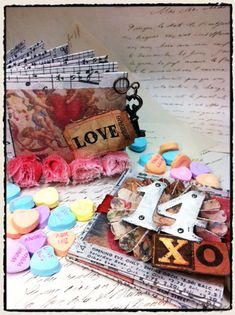 hey bloggers!  hope you enjoyed today's earlier post of the great valentine project from my favorite gypsy girls.  UPDATE:  congrats to the winner of a set of distress stains from yesterday's post.  please email me your contact info to get them out to you.  thanks again everyone for posting your comments...I'm Lovin it! 7 Gypsy's and Tim Holtz, does it get any better, I think not! Posted by: khjune64 February 12, 2011 7:29 AM as promised, here's a little valentine project of my own to share. ...