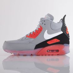 Nike buty Air Max 90 Sneakerboot Ice wolf grey / white - anthracit - infrared (684722-006)