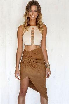 32 Buy Ladder Panel Crop Online - Tops - Women's Clothing & Fashion - SABO SKIRT