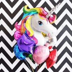 """Unicorn Bundle"" Bring some fun and decorative additions to your party or celebration with these balloon bouquet! Mix and match these balloons with our other party supplies for a custom birthday theme!"