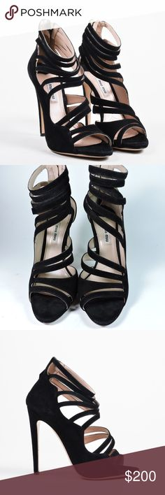 MIU MIU PRADA SUEDE CAGE HEELS SHOES PUMPS 38.5 GORGEOUS MIU MIU PRADA SUEDE CAGE HEELS SHOES PUMPS 38.5  • Size 38.5 Run true to their size  • soft suede leather upper/leather lining and sole • Made in Italy  Retail $995+Tax  WORN SEVERAL TIMES. SOME MINOR MARKS ON SUEDE. IN VERY GOOD CONDITION  No box, come in original dust bag. miu miu prada Shoes Heels