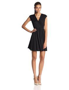 Allegra K Women's Crossover Deep V-Neck Dress
