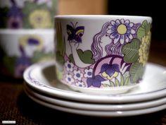 Figgjo - Victoria Norway, Victoria, Ceramics, Mugs, Patterns, Tableware, Crafts, Vintage, Ceramica