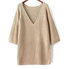 34,90EUR Pullover Strickpullover mit V Ausschnitt
