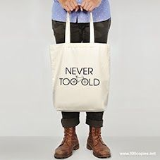 100copies Design #17 - Never Too Old  Tote bag now available at www.100copies.net for $32 USD #Tote #Totebag #bag #bicycle #bicycleart #cycling #bike #bikeart #cycle #fixie #fixedgear #singlespeed #roadbike #velo #singapore #art #fashion #artsy #bikeporn #graphic #minimal #illustration #screenprint