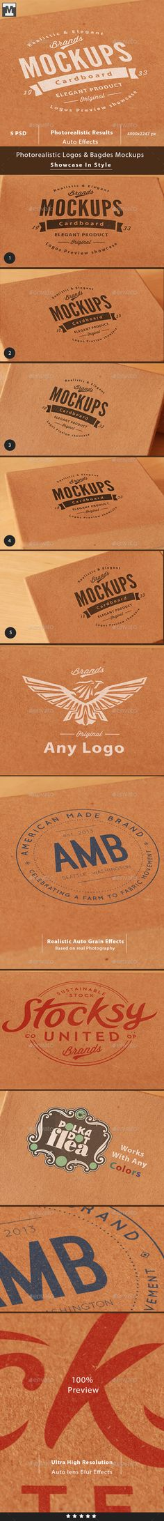 Photo-realistic Cardboard Logo Mockups. Download here: graphicriver.net/...