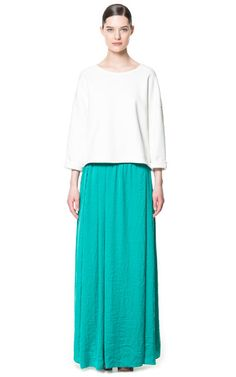 LONG SILK SATIN SKIRT - Skirts - Woman | ZARA Canada