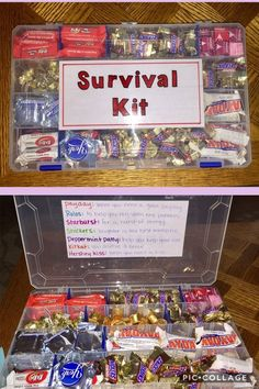 Candy Survival Kit for everyday pick me ups. Gift for my Dad& birthday. Candy Survival Kit for everyday pick me ups. Gift for my Dad& birthday. The post Candy Survival Kit for everyday pick me ups. Gift for my Dad& birthday. Cute Birthday Gift, Birthday Gifts For Best Friend, Diy Gifts For Friends, Birthday Diy, Birthday Candy, Birthday Presents For Dad, 18th Birthday Gift Ideas, Diy Bff Gifts, Birthday Surprise Ideas For Best Friend