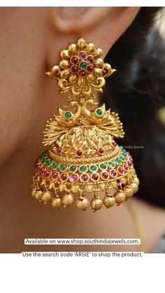 Gold Bangles Design, Gold Earrings Designs, Gold Jewellery Design, Necklace Designs, Jhumka Designs, Gold Designs, Ring Designs, Gold Temple Jewellery, Gold Wedding Jewelry