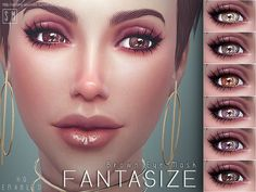 Sims 4 Updates: TSR - Eyes : Fantasize Brown Eye Mask by Screaming Mustard, Custom Content Download!