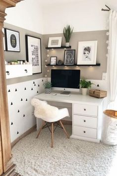White Home Office Ideas To Make Your Life Easier; home office idea;Home Office Organization Tips; chic home office. Home Office Decor, Room Design, Home Remodeling, Cheap Home Decor, Home Decor, House Interior, Room Decor, Simple Bedroom, Simple Bedroom Decor