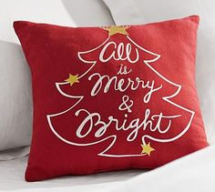 All is Merry & Bright Pillow Cover #potterybarn