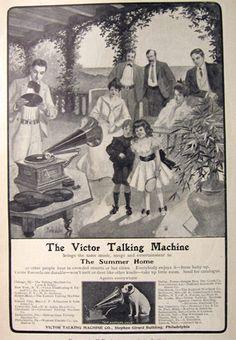 1902 Victor Talking Machine Ad ~ Martin Justice Art