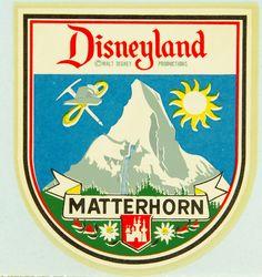 Switzerland Matterhorn 1950 S Vintage Looking Travel Decal Sticker for sale online Old Disney, Disney Love, Disney Magic, Punk Disney, Disney Stuff, Vintage Disney Posters, Vintage Disneyland, Vintage Mickey, Cleveland