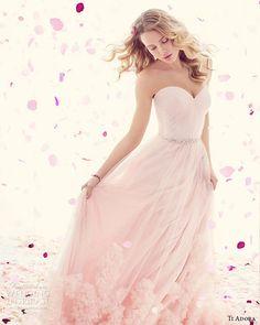 Ti Adora by Alvina Valenta Spring 2015 Wedding Dresses | Wedding Inspirasi #weddings  #pink dress