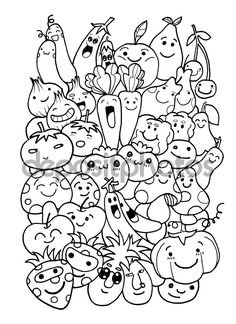 Doodle Background, Background Drawing, Cute Doodle Art, Doodle Art Drawing, Cute Easy Drawings, Cool Art Drawings, Kawaii Doodles, Cute Doodles, Cute Coloring Pages