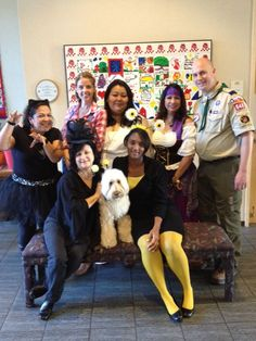 Operations Staff all dressed up with our favorite pooch Mogie on Halloween   October 2012