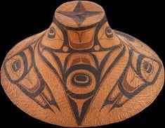 Kwii.aang (Isabella Edenshaw, Haida, 1858–1926) and Da.axiigang (Charles Edenshaw, Haida, 1839–1920), spruce-root hat  ca. 1900  Queen Charlotte Islands, British Columbia  Cedar bark, spruce root, paint