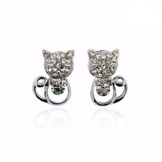 Jewelry - Cute Cat Stud Earrings