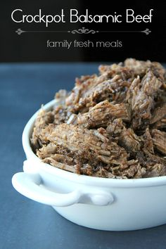 You Have Meals Poisoning More Normally Than You're Thinking That Easy Crockpot Balsamic Beef Recipe Crock Pot Slow Cooker, Crock Pot Cooking, Slow Cooker Recipes, Crockpot Recipes, Cooking Recipes, Chicken Recipes, Pork Recipes, Balsamic Glaze Recipes, Balsamic Beef