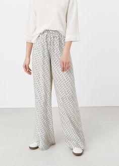 Flowy printed trousers -  Woman   MANGO USA