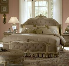 Dothan Furniture Stores ... Queen Wing Mansion Bed, AICO, Lavelle Collection   Home Gallery Stores