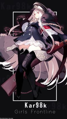 - Character Name : - Anime : Girls Frontline - Render : - all resource recpect to owner Cool Anime Girl, Beautiful Anime Girl, Kawaii Anime Girl, Anime Art Girl, Manga Girl, Girls Characters, Female Characters, Anime Warrior Girl, Anime Military