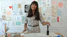 Learn how to print fabric with Zeena! In this quick tutorial, textile designer Zeena Shah will show you how to use an everyday household lint roller to creat...