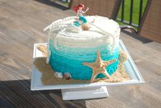 Cakes by Carla: Ombre Ariel Birthday Cake