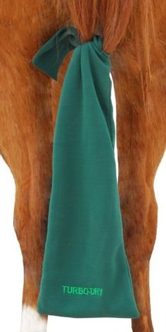 Centaur Turbo Dry Tail Bag Dark Green by Centaur. $7.20. Centaur Turbo Dry Tail Bag The new Turbo-Dry is a specially constructed fabric that wicks moisture 3 times faster! Turbo-Dry offers maximum sweat evaporation to get your horse really dry, really fast. Comfortable stretch fabric is specially treated to virtually eliminate static.