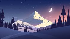 Find Night Landscape Mountain Moon stock images in HD and millions of other royalty-free stock photos, illustrations and vectors in the Shutterstock collection. Thousands of new, high-quality pictures added every day. Berg Illustration, Illustrations, Psalm 96, Art Et Nature, Abstract Nature, Lego Wallpaper, Flower Wallpaper, Wallpapers Android, Wallpaper Wallpapers