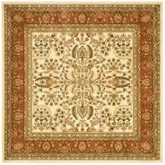 Lyndhurst Collection Oriental Ivory/ Rust Rug (6' Square) | Overstock.com Shopping - Great Deals on Safavieh Round/Oval/Square