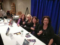 Booze and Broads II at Bouchercon 2013 l-r:  Monette Michaels, Heather Graham, Melinda Leigh, and Tina Whittle