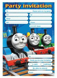 Amscan Thomas Tank Invites and Envelope: Amazon.co.uk: Toys & Games