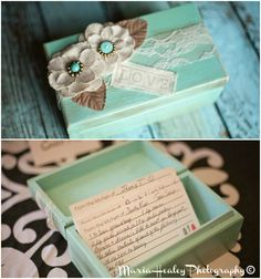 Recipe card included in invites. #bridalshower Mariahealey.com http://www.dandpcelebrations.com