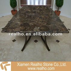 Outdoor Dining Table.  marble stone top dining table