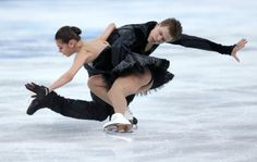 Elena Ilinykh and Nikita Katsalapov of Russia compete in the Team Ice Dance Free Dance during day two of the Sochi 2014 Winter Olympics at I...