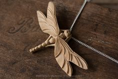 Dragonfly Pendant « Giles Newman Art Wood Carving