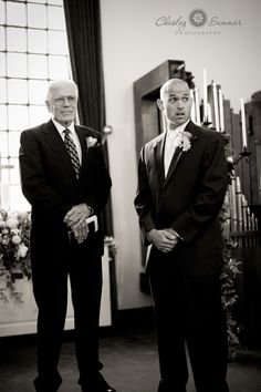 Love this groom's reaction to seeing his bride. Credit goes to Chelsey Summar Photography.