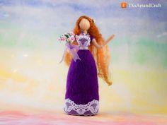 Needle Felted Doll - Lady Violetta