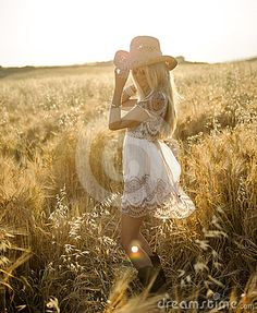 Country girl in hay field 2 ...Could be done with any outfit