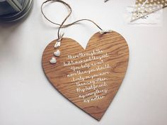 Presents For Mum, Gifts For Mum, Etsy Handmade, Handmade Gifts, Hanging Hearts, Personalised Gifts, Wooden Decor, Birthday Celebration, Celebrations