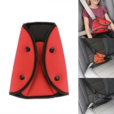 Seat Belt Adjuster 2 Pcs Child Car Protection Comfortable Support Triangle for Seat Belt
